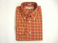 インディビジュアライズドシャツ L/S  マドラスチェック   オレンジ