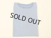グッドオン ボーダー半袖Tシャツ  ブルー×ホワイト