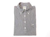キートンチェイス  半袖 プルオーバーBDシャツ      ギンガムチェック   ネイビー