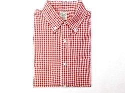 画像1: キートンチェイス     L/S ボタンダウンシャツ   ギンガムチェック    レッド
