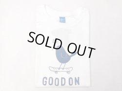 画像1: グッドオン プリント 半袖クルーTシャツ BLUE BIRD    ホワイト×ブルー