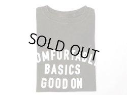 画像1: グッドオン プリント 半袖クルーTシャツ   COMFOTABLE     P-BLACK