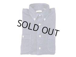 画像1:  New England  Shirt Company デニムBDシャツ(エルボーパッチ付)  ブルーデニム