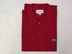 画像1: ラコステ L1212半袖ポロシャツ  bordeaux- 476(ボルドー)
