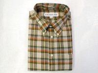 インディビジュアライズドシャツ  L/S  マドラスチェック     ベージュ×グリーン